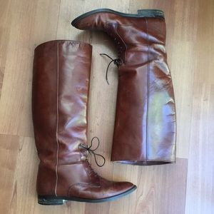 Vintage leather riding boot Marc Alpert Collection